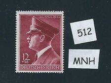 Mint postage stamp / Adolph Hitler 1942 Birthday / Third Reich / 1942 MNH issue