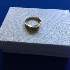14k Yellow Gold And Diamond University Of Texas Ring Size 6