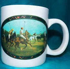 Vintage Limited Edition Ralph Lauren Polo Horses Equestrian Coffee Cup Mug 10 oz