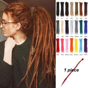 "1Piece 20"" Handmade Dreadlocks Crochet Braiding Hair Extensions Synthetic Dreads"