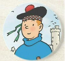 Tintin The Black Island Round Ceramic Drinks Coaster Set of Two