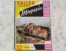 Faller  AMS --  Modellbau Magazin 32 von 1963, niederländische Ausführung
