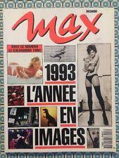 MAX French Dec 1993 L'année 93 en Images - Cinéma Sport Femmes Monde