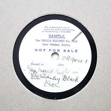 """STANLEY BLACK ORCHESTRA """"You Moved Right In"""" DECCA SHELLAC TEST PRESSING [78]"""