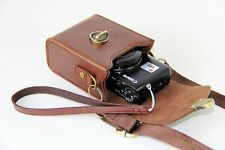 leather camera bag case cover for Canon SX730 HS  black brown coffee pink+strap