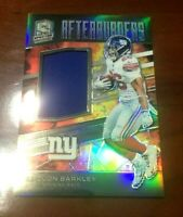 2019 SPECTRA SAQUON BARKLEY JERSEY #d 142/199 AFTERBURNERS NEW YORK GIANTS  WOW