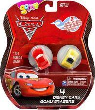 Disney Cars Cars 2 Gomu Lightning McQueen & Luigi Gomu Erasers 4-Pack
