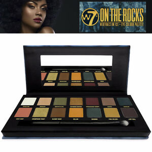 W7 Makeup ON THE ROCKS Neutral On Ice 14 Cool Toned Eye Colour EyeShadow Palette