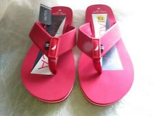 Men's Nautica Red White Blue Flip Flops Thong Sandals Size 13
