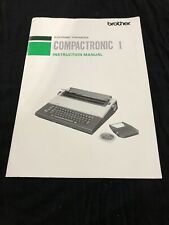 Brand New Compactronic I Instruction Manual