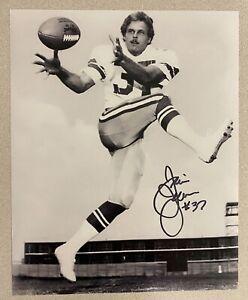 Jim Jensen signed DALLAS COWBOYS 8 x 10 Photo