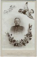 Rekrut aus Friedrichsfeld. Original-Kabinett-Photo, um 1890