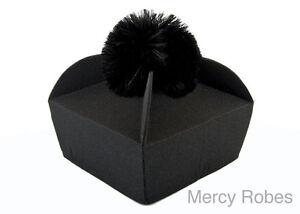 3-Wing Black Clergy Biretta, Priest Hat, Catholic Vestment, New