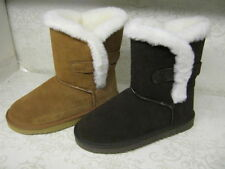 Flat (less than 0.5') Suede Upper Unbranded Boots for Women