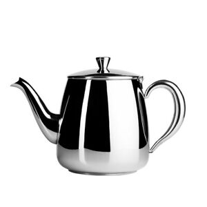 Cafe Ole Stainless Steel Teapot 35oz Traditional Tea Pot Cafe Home Flip Up Lid