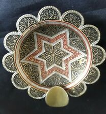 Asian Brass And Enamel Ashtray.  Vintage