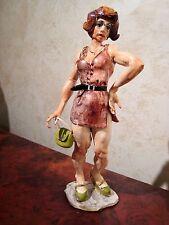 "RARE Italian Ceramic Figurine- ""STREET WALKER in MAUVE"" by ALDO CIOLLI- Firenze"