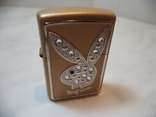 ZIPPO LIGHTER PLAYBOY  LIMITED EDITION Gold & Swarovski BLING  N 780/7500 NUOVO