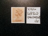 GB 1971+~ Machin~13p~SG X901a~Left Band~Pale Chestnut~Unmounted Mint~UK