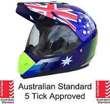 Dual sport helmet Road Adventure full face motocross Dirt bike Australian flag
