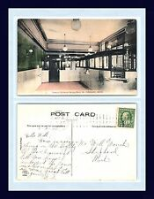 MICHIGAN MT PLEASANT BANK INTERIOR 1910 TO WILL WONCH, SHEPPERD, ISABELLA COUNTY