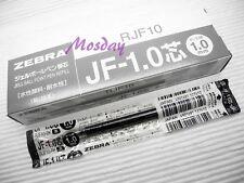 10 x Zebra SARASA Retractable RollerBall Pen Refills 1.0mm Medium, BLACK