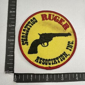 As-Is-Stained RUGER COLLECTOR'S ASSOCIATION INC. Patch (Gun Related) 11T2