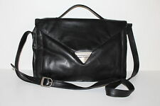 80er Vintage Custodia in pelle Messenger leather bag shopper a tracolla Satchel