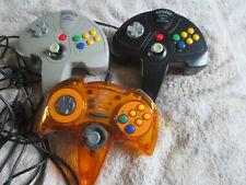 3 x Nintendo 64 N64 Controller Control Pad Controllers Bundle Superpad Logic 3