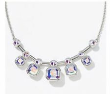 Touchstone crystal square up necklace crystal aurore boreale  By swarovski BNIB