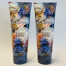 2 Bath & Body Works Almond Blossom Ultra Shea Body Cream 8 oz 226 g New