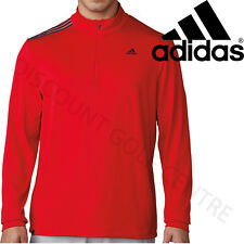 Adidas Golf 3-Stripes French Terry 1/4 Zip Pullover Training Mens Sweater