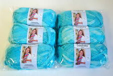 Red Heart Yarn Boutique Sashay mini Yarn 6 Balls Bubbles Lot Sale NEW