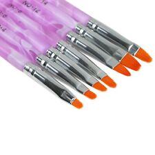7Pcs UV Gel Nail Art Brush Polish Painting Pen Kit Salon Manicure DIY Styling