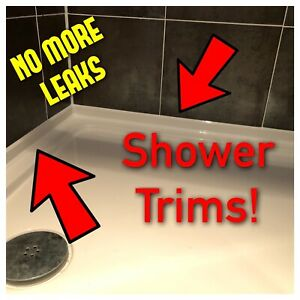 Shower Trim Stops All Leaks, Covers Big Gaps