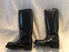 """8.5EE Men's Chippewa 17"""" Motorcycle High Shine Leather Boots ( MODEL 71418)"""