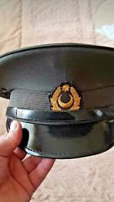 Azerbaijan Defense Ministry Army Officer's Original Ceremonial Cap Hat with pin