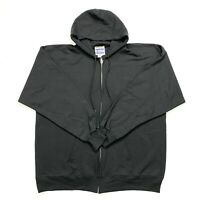 Hanes PrintPro ultimate cotton men's black hoodie NWOT Size XL full zip fleece l
