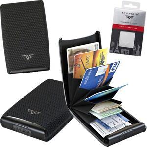 Tru Virtu Leather Aluminium Card Case, Rfid, Credit Business Card Case