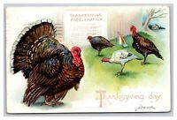 Vintage 1907 Raphael Tuck Thanksgiving Proclamation Postcard Embossed Turkey