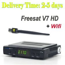 Freesat V7 HD DVB-S2 Digital Satellite TV Receiver decoder & USB WIFI Hotest US