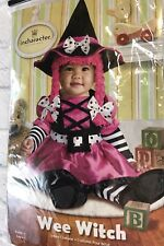 inCharacter Wee Witch Halloween Costume Girls Size 18-24 Month 2T Hat Shoes EUC