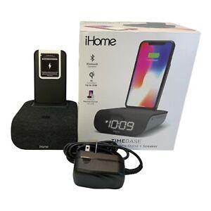 QI Alarm Clock Wireless Charging Stand & Speaker & USB Charge IHome Timebase
