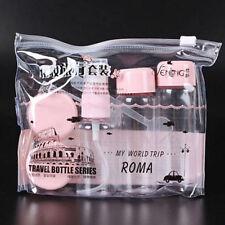 7Pcs/set Mini Travel Mini Plastic Transparent Empty Make Up Container Bottle Kit