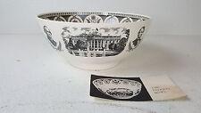 "12"" Wedgewood Federal Washington Presidents Punch Bowl Creamware Liverpool Style"