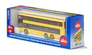 SIKU SUPER 1:87 Scale 1884 DOUBLE DECKER CITY BUS 15.5cm Long Diecast + Plastic