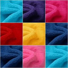 "100% Polyester Solid Double Sided Whisper Cuddle Fleece Fabric 58"" Sold the Yard"