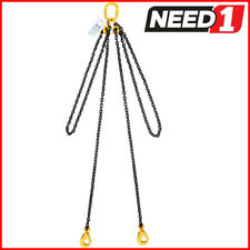 Lift Safe Grade 80 2 Leg Lifting Chain Sling with Clevis Self Locking Hook