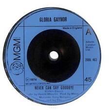 "Gloria Gaynor - Never Can Say Goodbye - 7"" Vinyl Record Single"