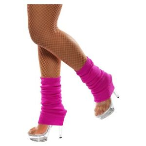 Neon Leg Warmers Adult 80s Workout Costume Aerobics Fancy Dress Outfit Clothes